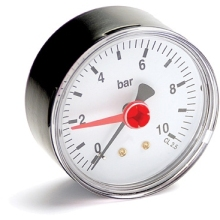"Altecnic Pressure Gauge 0-10 Bar 1/4"" Bottom"