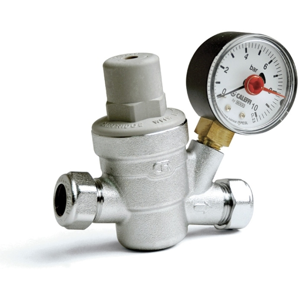 Altecnic 22mm Pressure Reducing Valve 40°C With Gauge