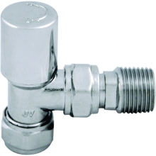 Ultima Standard Radiator Valve Angled Lockshield 15mm