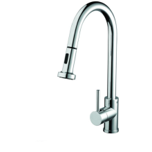 Apricot Sink Mixer with Pull Out Spray