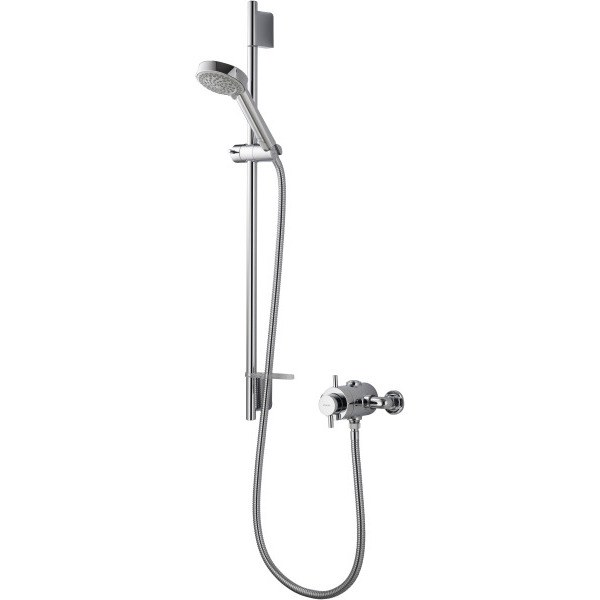 Aqualisa Aspire DL Exposed Thermostatic Mixer Shower with Adjustable Head - Chrome