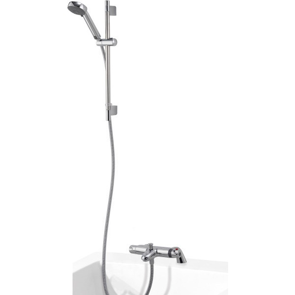 Aqualisa Midas 100 Thermostatic Bath Shower Mixer with Adjustable Head HP/Combi - Chrome
