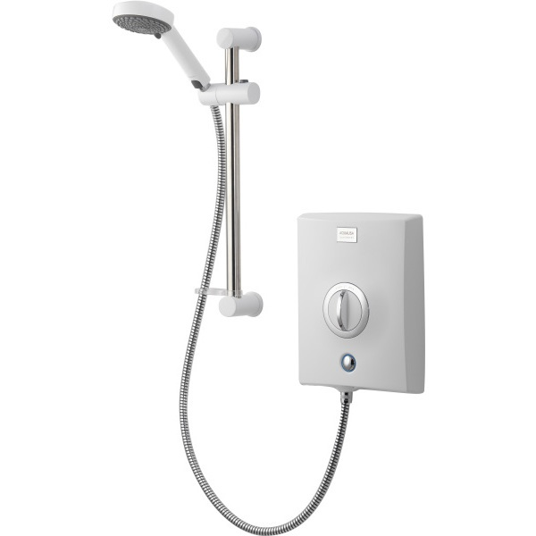 Aqualisa Quartz 8.5kW Electric Shower with Adjustable Head - White/Chrome