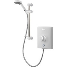 Aqualisa Quartz 9.5kW Electric Shower with Adjustable Head - White/Chrome