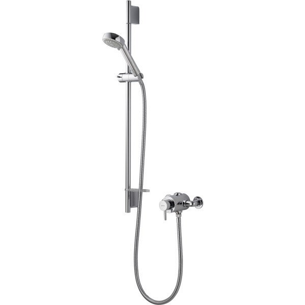 Aqualisa Siren SL Exposed Thermostatic Mixer Shower with Adjustable Head - Chrome