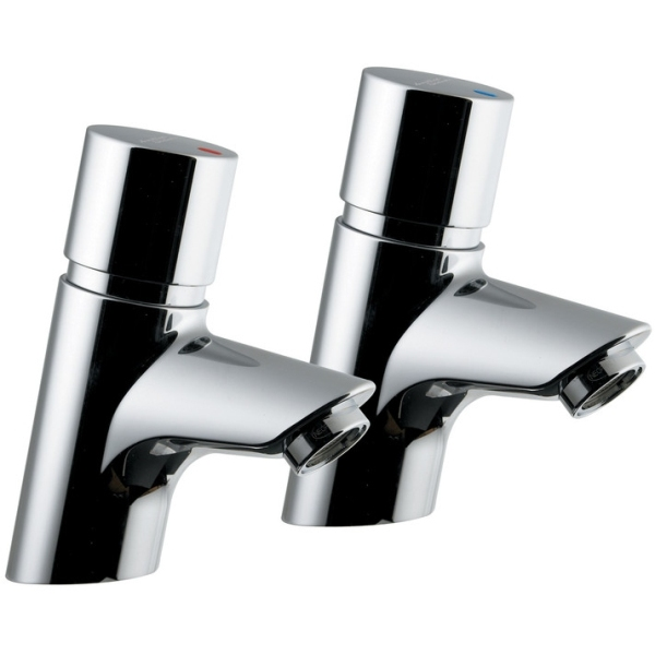 Armitage Shanks Avon 21 Pair Self Closing Basin Taps With Dual Indices