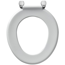 Armitage Shanks Bakasan Toilet Seat With Stainless Steel Rod & Chrome Plated Pillar No Cover White