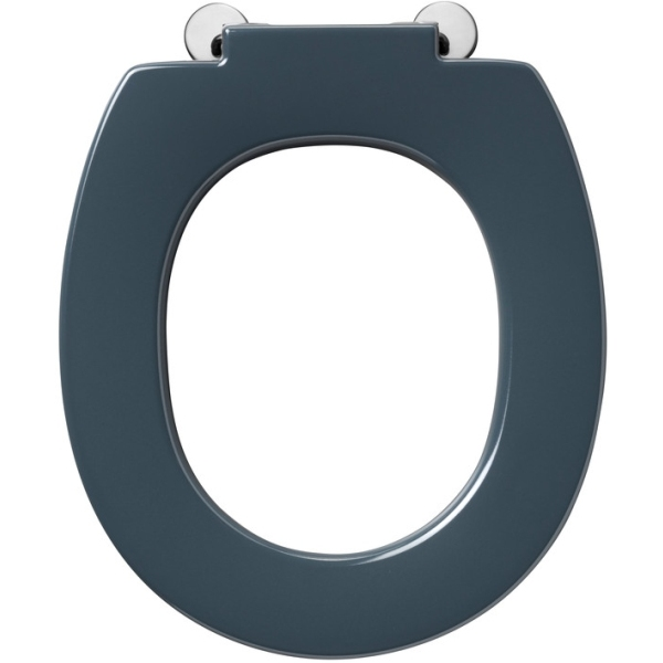 Armitage Shanks Contour 21 Standard Toilet Seat With Retaining Buffers No Cover Top Fixing Hinges Charcoal
