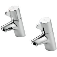 Armitage Shanks Nuastyle 21 Pair Basin Taps With Dual Indices Chrome Handle