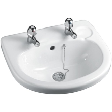 Armitage Shanks Orbit 21 Countertop Basin 55cm With Overflow No Chain Hole One Taphole White