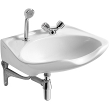 Armitage Shanks Salonex 61cm Hairdressers Basin Two Tapholes White