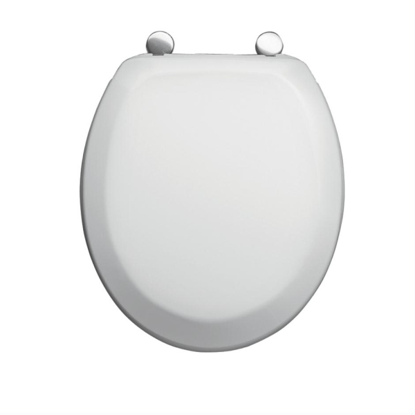 Armitage Shanks Sandringham Orion Plus Toilet Seat & Cover With Removable Stainless Steel Fittings White