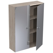 Atlanta 600mm Tall Wall Mirrored Unit