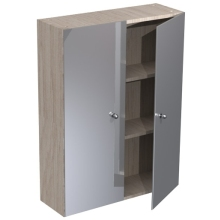 Atlanta 700mm Tall Wall Mirrored Unit White