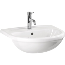 Atlanta Cadiz Countertop Basin 1 Tap Hole White