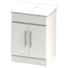 Atlanta Concepts Pure Floor Standing Vanity Unit 600mm White Gloss