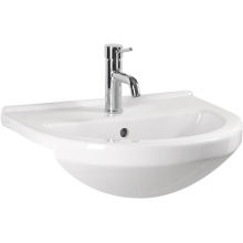 Atlanta Forino Countertop Basin 1 Tap Hole White