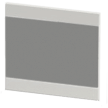 Atlanta Form Modular Linear Mirror 700 Graphite Lucido