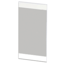 Atlanta Form Modular Tall Linear Mirror Cool Grey