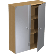 Atlanta Slimline 600mm Tall Wall Mirrored Unit Truffle
