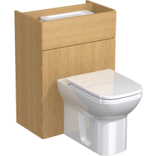 Atlanta Slimline Full Panel WC Unit & Cistern 600mm Cool Grey Premium