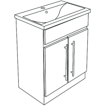 Atlanta Zest Modular Floor Standing Basin Unit 600 White Gloss