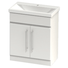 Atlanta Zest Modular Floor Standing Basin Unit 700 White Gloss