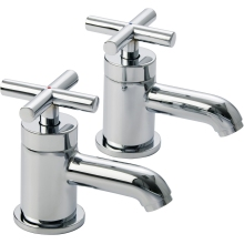 Aura Azora Basin Taps Pair Chrome Plated