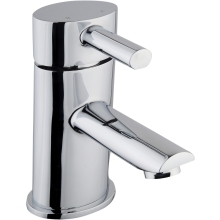 Aura Oval Mono Basin Mixer Tap Chrome Plated
