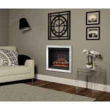 "Be Modern 22"" Casita Wall Mounted Electric Inset Fire – Chrome"