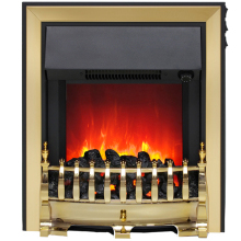Be Modern Fazer Electric Inset Fire with Spacer Frame – Brass