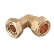 "Bent Tap Connector 22mm X 3/4"" Brass"