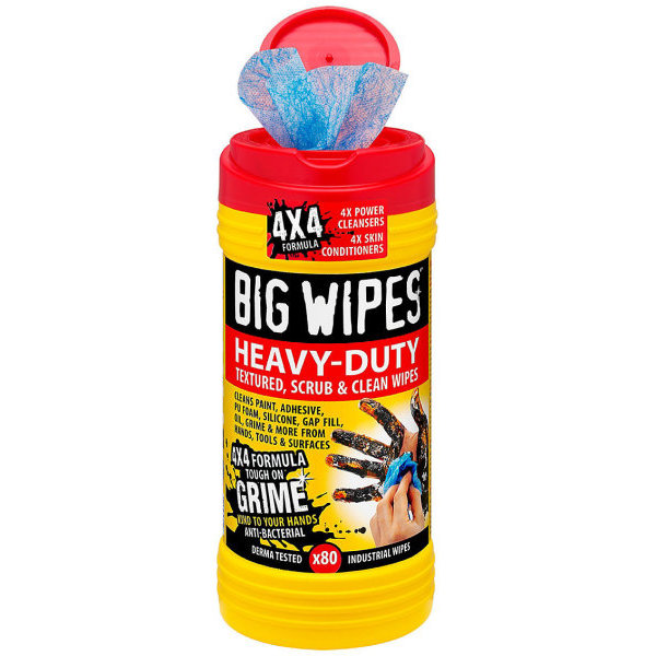 BIG YELLOW WIPES INDUSTRIAL X80 RED CAP