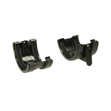 Polypipe 112mm Half Round Gutter Union Bracket Black