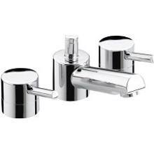 Bristan 104 x 208 x 398mm Prism 3 Hole Basin Mixer with Pop-up Waste Chrome