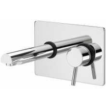 Bristan 234mm x 155mm Prism Single Lever Wall Mounted Bath Filler Chrome