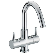 Bristan 243mm x 135mm Bristan Two Handled Basin Mixer (without waste) Chrome