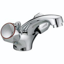 Bristan Club Mono Basin Mixer With Pop Up Waste Chrome Plated With Metal Heads