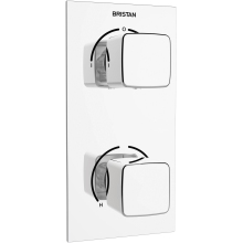 Bristan Cobalt Recessed Thermostatic Mixer Shower with Dual Controls & Diverter - Chrome