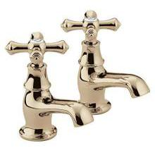 Bristan Colonial Basin Taps 110mm Gold Plated