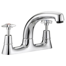 Bristan Cross Top Deck Sink Mixer Chrome Plated