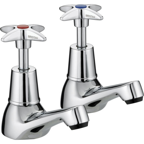 Bristan Cross Top Taps Chrome Plated Basin
