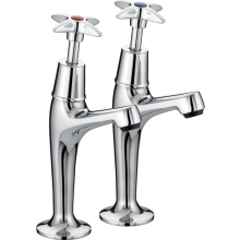 Bristan Cross Top Taps Chrome Plated