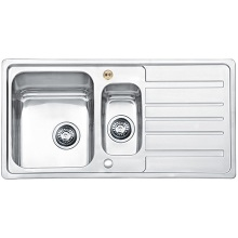 Bristan Index Easyfit Sink - 1.5 Bowl Stainless Steel Universal