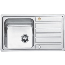 Bristan Index Easyfit Sink - 1.0 Bowl Stainless Steel Universal