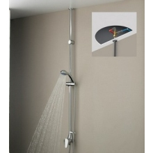 Bristan Jute Mini Twinline Adjustable Riser with Thermostatic Shower Ceiling Fed 965mm - 1500mm Maximum Chrome