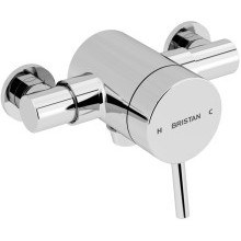 Bristan Prism Exposed Sequential Thermostatic Mixer Shower Valve Only - Chrome