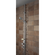 Bristan Prism Twinline Thermostatic Mixer Shower with Adjustable Riser (Ceiling Fed) - Chrome