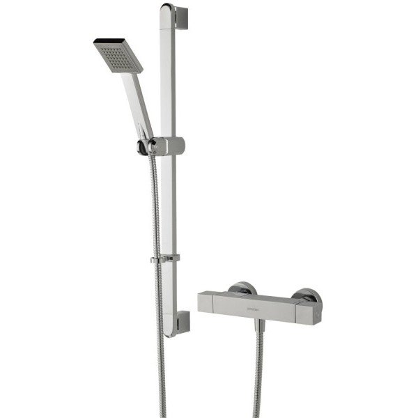 Bristan Quadrato Exposed Bar Shower with Kit