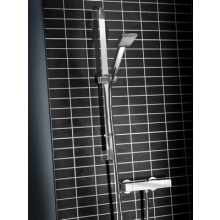 Bristan QUADRATO Thermostatic Surface Mounted BAR SHOWER VALVE with Adjustable Riser and Fast Fit Connections Chrome